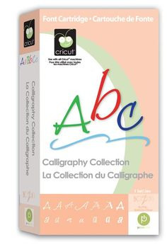 Cricut® Calligraphy Collection Cartridge.   I wouldn't buy this cartridge again, if you use it with the cricut markers/gel pens then it's good but the fonts do NOT cut well, they're all too thin, and i honestly will check this cartridge last when i'm on my craft room writing something