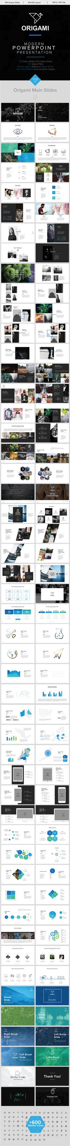 Origami Minimal PowerPoint Template. Download here: http://graphicriver.net/item/origami-minimal-powerpoint-template/16010427?ref=ksioks