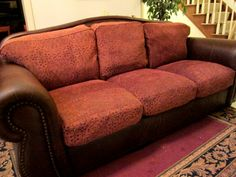 This Is My Couch I Recovered The Sad Ripped Cushions With A Really Great