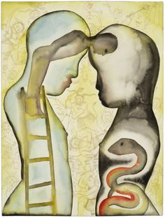 djinn-gallery: Francesco Clemente - Lovers,...   sex-death-rebirth