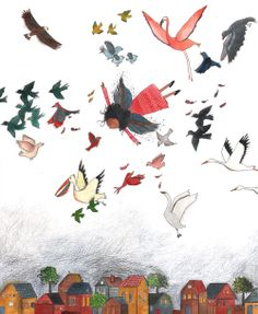 Birds, drawings from Miriam Bouwens
