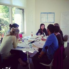 Jen with the entire #MissRep team, at a (big!) planning meeting today in Marin