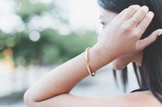 Allure of Simplicity | wearing our Brandy Pham Cylinder Bracelet #brandypham