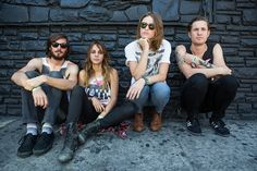 The band Dead Sara opened for Muse last night, lead singer Emily Armstrong (sunglasses) has a tremendous voice