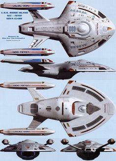 Dorsal, ventral, starboard, bow and stern views of U. Star Trek Fleet, Star Wars, Star Trek Ships, Spaceship Art, Spaceship Design, Robot Design, Star Trek Voyager, Trek Deck, Starfleet Ships