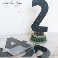 Have a fav number? Maybe the number of family members or a special date. Display it with Vintage Numbers!!  HoggBarnAntiques