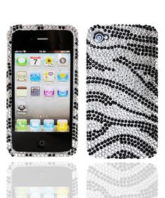 Take a look at this Black & White Zebra Crystal Case for iPhone 4/4s on zulily today!