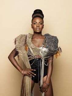 "fashizblackdiary: "" Shingai Shoniwa (The Noisettes) for L'Oreal Mizani haircare campaign. """