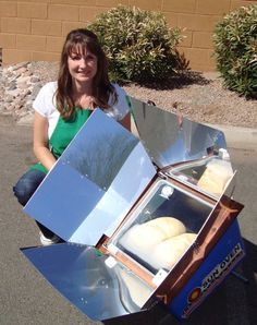Preparing most of her family's meals utilizing the power of the sun, Chrystalyn Trimble, shares about cooking with a Solar Oven