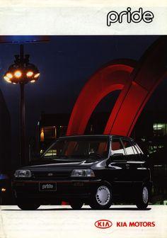 Kia Pride, Kia Motors, Car Brochure, Car Covers, Classic Cars, Travel, Viajes, Vintage Classic Cars, Destinations