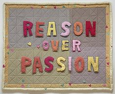 Reason over Passion, Joyce Wieland x x 8 cm quilted cotton Purchased 1970 National Gallery of Canada (no. Inuit Art, Expressive Art, Canadian Art, Photo Essay, Throw Cushions, Quilting Tutorials, Fabric Art, Paper Piecing, American Art