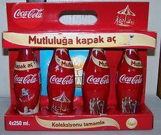 2011 Coca Cola Migros Cap Happiness Bottle Limited Edition Empty Boxset Turkey