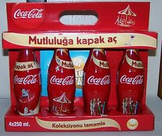 2011 Coca Cola Migros Cap Happiness Bottle Limited Edition Empty Boxset Turkey