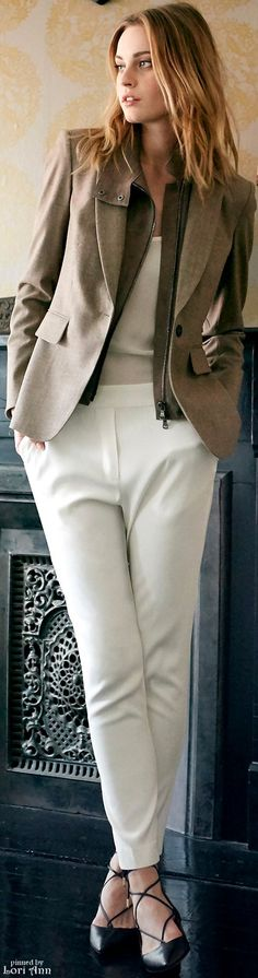 Veronica Beard Pre-Fall 2016 women fashion outfit clothing style apparel @roressclothes closet ideas