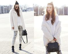 Get this look: http://lb.nu/look/8064794  More looks by Dominique B.: http://lb.nu/goldschnee  Items in this look:  Roeckl Bag, Pepe Jeans London Fake Fur Jacket   #casual #chic #street #berlin #streetstyle #fashion #fakefur #winter
