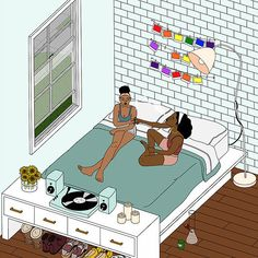 Drawings by Alana Black Girl Cartoon, Black Girl Art, Black Women Art, Black Art, Art Girl, Psychadelic Art, Pop Art Wallpaper, Stoner Art, Weed Art
