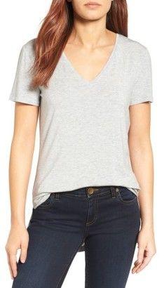 Shop Now - > https://api.shopstyle.com/action/apiVisitRetailer?id=655426919&pid=uid6996-25233114-59 Petite Women's Halogen V-Neck Tunic Tee ...