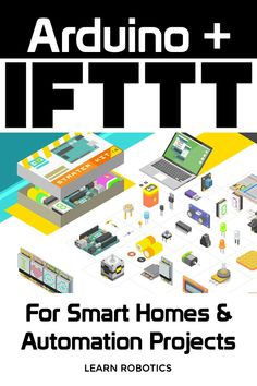 Arduino + IFTTT = Custom IoT Develop your own Smart Home system by combining Arduino and IFTTT. Here's how to get started making your next Home Automation project! Arduino Home Automation, Home Automation Project, Home Automation System, Smart Home Automation, Esp8266 Arduino, Arduino Programming, Home Security Camera Systems, Security Cameras For Home, Cool Arduino Projects