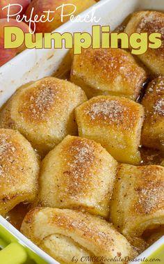 Peach Dumplings - non dairy