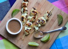 Almond Butter Chicken Satay from @cookinglight on Glori of Food