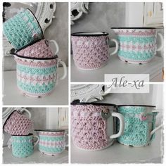 After engraving and thread: New Ebook: Cup Cozies - crocheted cup warmer in 2 variants
