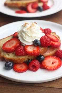 Mixed Berry Shortcakes with Skinny Whipped Cream | Recipe | Berries ...