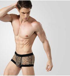 New Arrival Men's lace sexy underwear male fun underwear transparent underwear for men fashion black white men's lace boxers