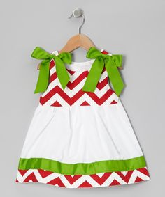 Love this Caught Ya Lookin' Red & Green Janie Mae Tie-Strap Dress - Infant & Toddler by Caught Ya Lookin' on #zulily! #zulilyfinds