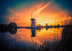 Sunset at Kinderdijk. by Remo Scarfò on 500px