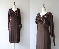 Entr'acte dress  vintage 1930s dress  rayon crepe от DearGolden