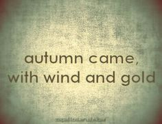 Autumn came with wind and gold Autumn Day, I Fall, Autumn Leaves, Soft Autumn, October Country, Sweet November, Seasons Of The Year, Happy Fall, Fall Halloween