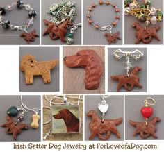 Irish Setter, Irish Terrier and Scottish Deerhound Dog Jewelry Gifts at ForLoveofaDog.com | Talking Dogs at For Love of a Dog | Bloglovin'