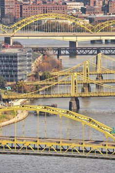 Pittsburgh bridges By Chris Litherland Photography. Another interesting bridge photo. Pittsburgh Bridges, Pittsburgh City, Pittsburgh Neighborhoods, Pittsburgh Penguins, Pittsburgh Steelers, Kansas City, Great Places, Places To See, Cheapest Places To Live