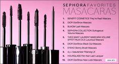 Favorite Mascaras  #sephora