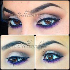 Pop of purple @rebellemakeup