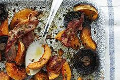 Bacon-roasted vegetables