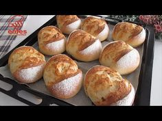 YouTube Bagel Bread, Bread Bun, Bread Cake, Easy Bread, Bread Rolls, Pastry Recipes, Bread Recipes, Baking Recipes, Homeade Bread