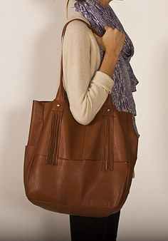 Brown leather Matchbox tote
