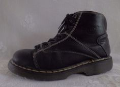 b304a208b1a Vintage-Dr-Martens-Black-Leather-Ankle-Boots-8A07-Made-in-England-Men-039 -s-SZ-US-10