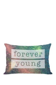 """Forever Young Galaxy Multi 14"""" x 20"""" Zipper Pillow"""