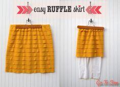Easy Ruffle Skirt Tutorial from GoToSew.com #ruffle #tutorial #skirt