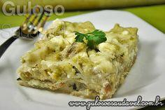 Lasanha de Bacalhau ao Molho Verde » Massas, Peixes e Frutos do Mar, Receitas Saudáveis » Guloso e Saudável