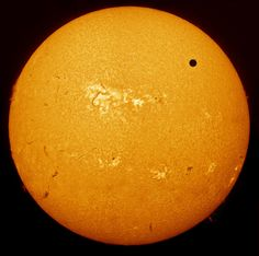One of The Royal Observatory's annual astronomy photography awards:  Venus Transit by Paul Haese