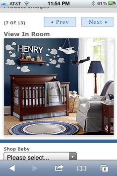 We picked our bedding! Baby boy room!