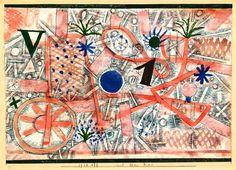 Paul Klee - Mit dem Rad (With the Wheel), 1923.