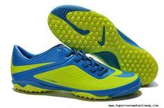New Nike Hypervenom Phelon TF Boots Fluorescent Green/Blue