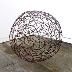 Kelly-Ann Lees,    'Twelve Hundred Round' 2013,    recycled welded steel,  120 x 120 x 120cm