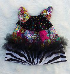 Rainbow Flower Basic Flutter Dress SIZE 2, baby girl dresses,girls dresses,flutter dresses,handmade dresses,baby dresses,princess dresses by HopskotchKids2 on Etsy