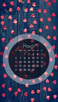 Wallpaper calendar 03.2016