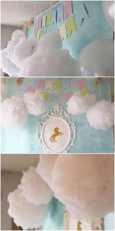 Odina's Magical Rainbow Unicorn Birthday | http://CatchMyParty.com